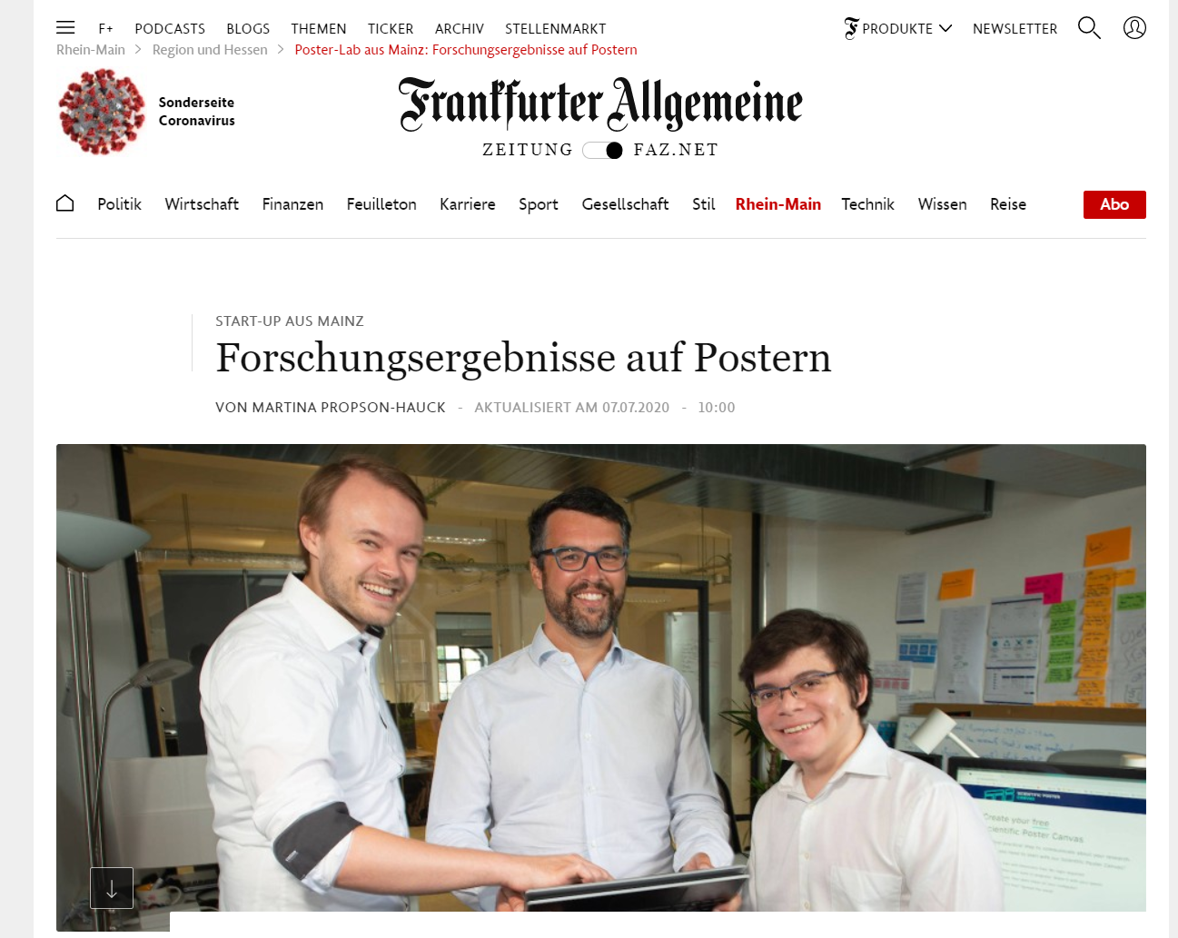 Leading German Media (FAZ) talking bout PosterLab, putting PosterLab on the map